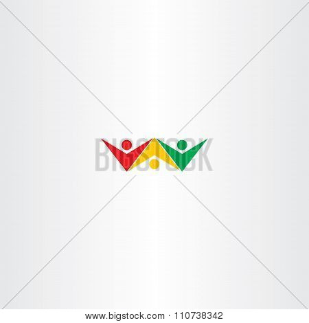 People Friends Colorful Vector Logo Design