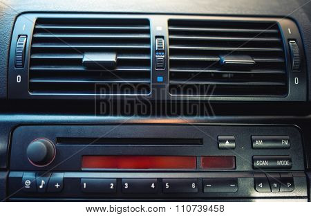 Air Conditioning And Car Ventilation System With Details Of Modern car