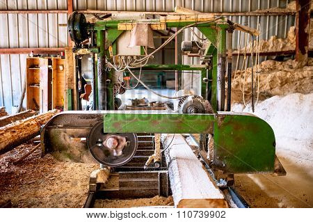Industrial Wood Production Factory -  Industrial Big Saw Cutting