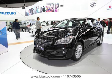 Bangkok - December 1: Suzuki Ciaz Rs Car On Display At The Motor Expo 2015 On December 1, 2015 In Ba
