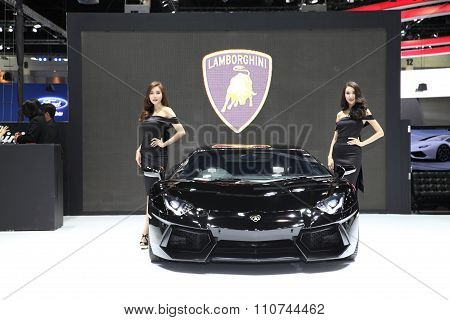Bangkok - December 1: Lamborghini With Unidentified Model On Display On Display At The Motor Expo 20