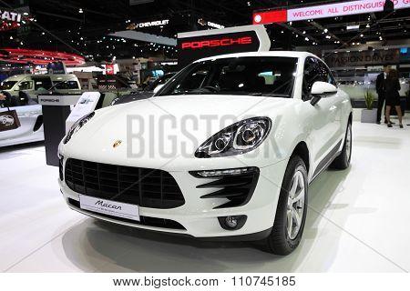 Bangkok - December 1: Porsche Macar Car On Display At The Motor Expo 2015 On December 1, 2015 In Ban