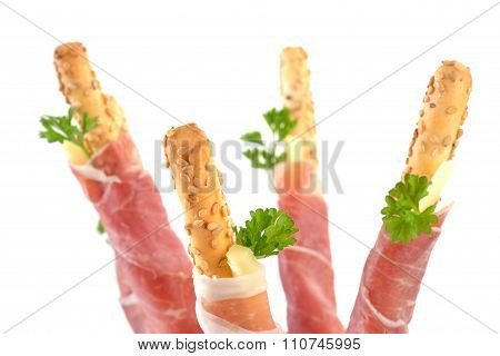 Grissini with prosciutto