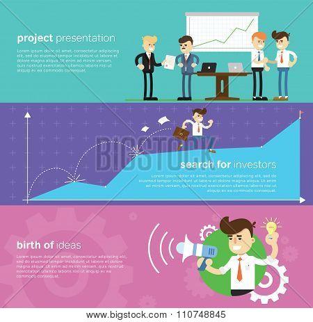 Start up business concept design