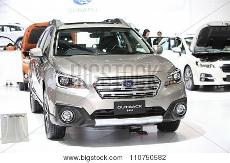 Bangkok - December 1: Subaru Outback 2.5 I-s Car On Display At The Motor Expo 2015 On December 1, 20
