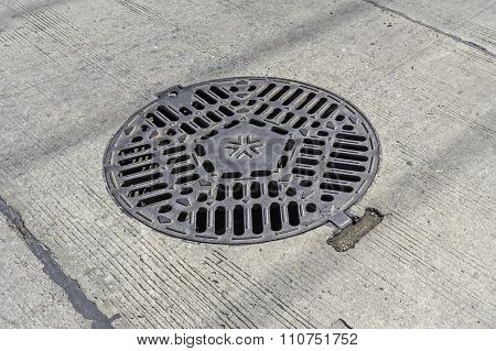 Sewer Cover On Street