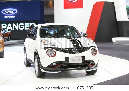 Bangkok - December 1:nissan Juke Car On Display At The Motor Expo 2015 On December 1, 2015 In Bangko