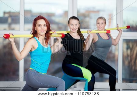 Lunges With Weight Bar