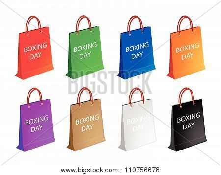 Assorted Paper Shopping Bags For Boxing Day