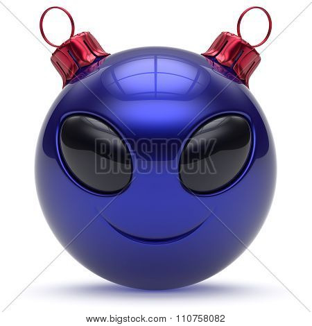 Christmas Ball Alien Face Emoticon Smiley New Year's Eve