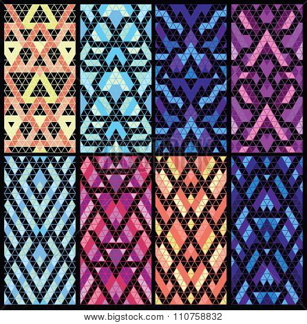 Set of eight patterns.
