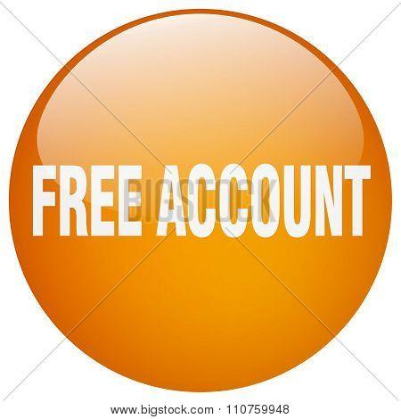Free Account Orange Round Gel Isolated Push Button