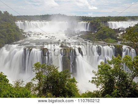 Iguassu(Iguazu) Falls located at the Brazilian and Argentinian border