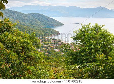 View of Angra Dos Reis. Ilha Grande, Brazil.