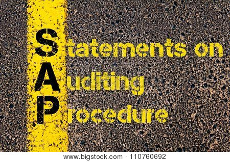Accounting Business Acronym Sap Statements On Auditing Procedure