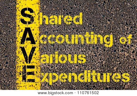 Accounting Business Acronym Save Shared Accounting Of Various Expenditures