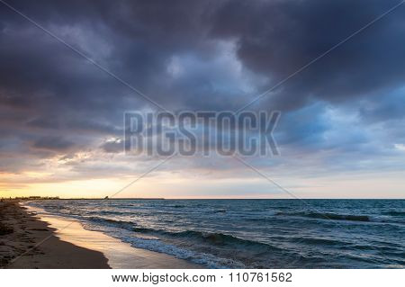 Dramatic Colorful Cloudscape, Mediterranean Sea
