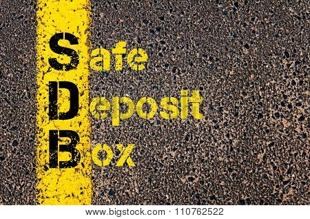 Accounting Business Acronym Sdb Safe Deposit Box