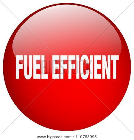 Fuel Efficient Red Round Gel Isolated Push Button