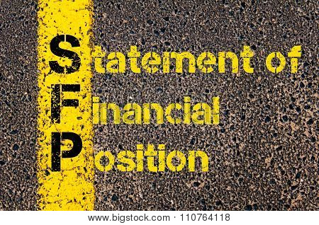 Accounting Business Acronym Sfp Statement Of Financial Position