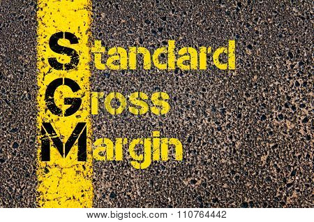 Accounting Business Acronym Sgm Standard Gross Margin
