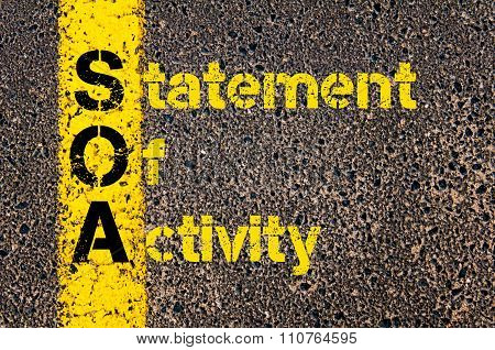 Accounting Business Acronym Soa Statement Of Activity