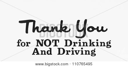 Drinking And Driving Sign