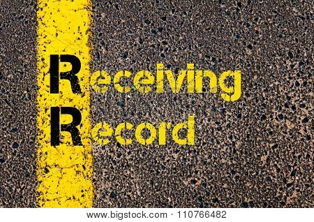 Accounting Business Acronym Rr Receiving Record