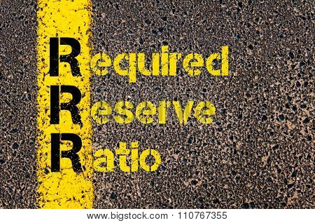 Accounting Business Acronym Rrr Required Reserve Ratio