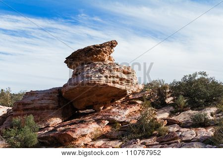 Rock Formation In Desert at Red Rock Canyon Conservation Area State Park, Nevada, USA