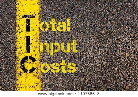Accounting Business Acronym Tic Total Input Costs
