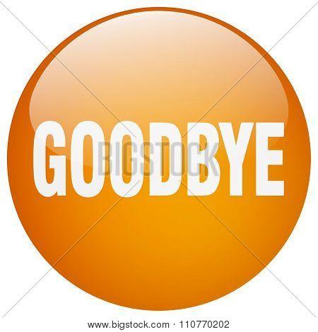 Goodbye Orange Round Gel Isolated Push Button