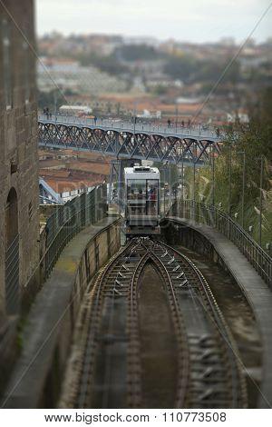 Funicular dos Guindais in Porto, Portugal