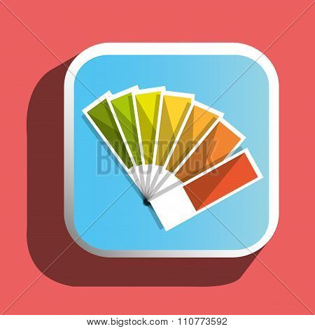 Colorful pantone icon
