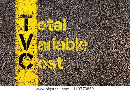 Accounting Business Acronym Tvc Total Variable Costs