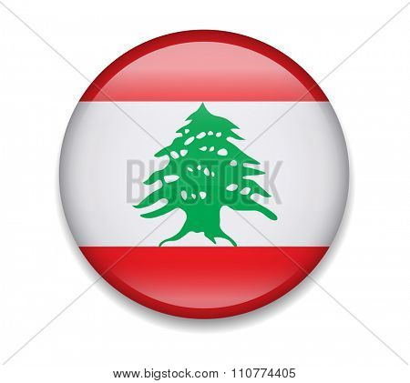 Lebanon Button Flag