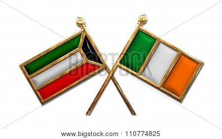 Diplomacy Kuwait And Ireland Flags