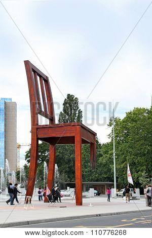 Broken Chair, Geneva, Switzerland