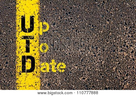 Accounting Business Acronym Utd Up To Date