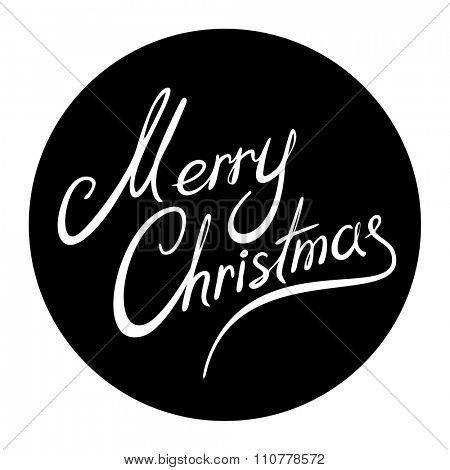 Merry Christmas black round sign