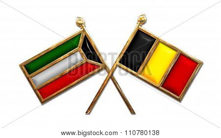 Diplomacy Kuwait And Belgium Flags