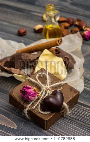 Homemade Chocolate Candys, Cocoa, Cocoa Butter