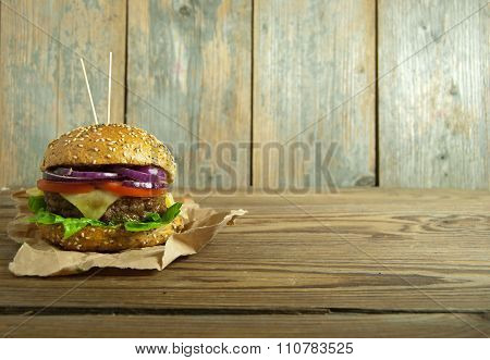 Hamburger With Space