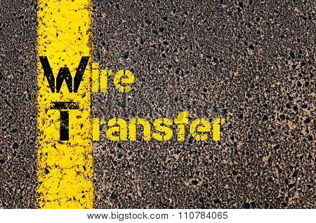 Accounting Business Acronym Wt Wire Transfer
