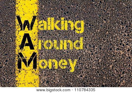 Accounting Business Acronym Wam Walking Around Money
