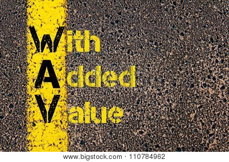 Accounting Business Acronym Wav With Added Value