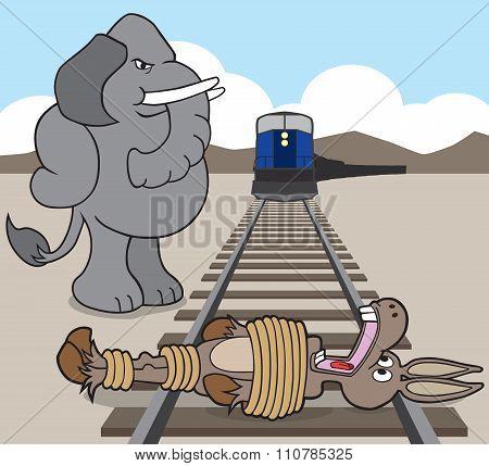 Donkey on the Tracks