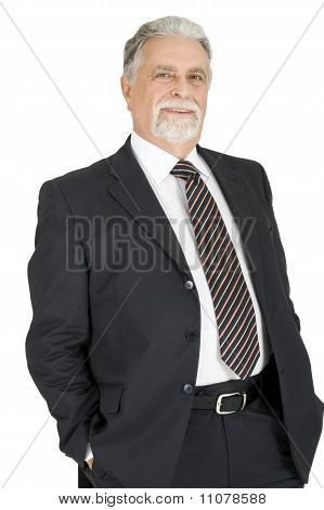 elegant elderly man