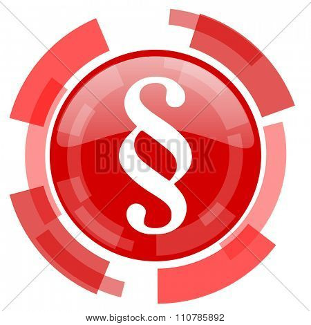 paragraph red glossy web icon