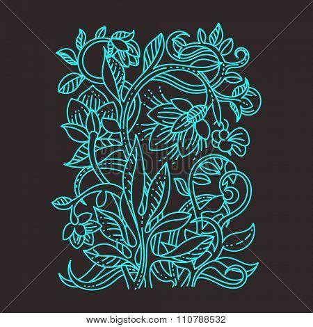 Vintage floral design elements. Good for menu, notebook cover or invitation decoration.